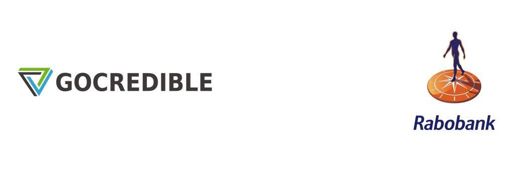 Samenwerking tussen GoCredible en Rabobank weergegeven met hun respectievelijke logo's.