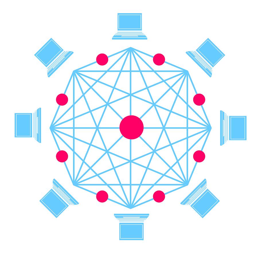 Afbeelding blockchain-technologie
